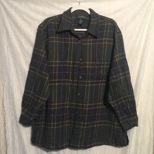 Ralph Lauren 3x 100% wool plaid shirt buttonup